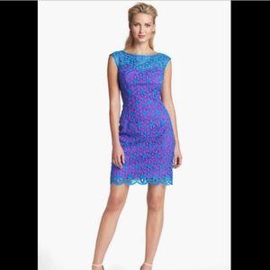 Lilly Pulitzer Selna Dress Royce Blue & Pink Daisy